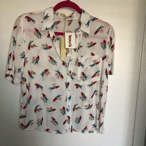 Love Notes - Parrot Button Down